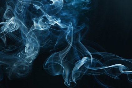 smoke on the black background