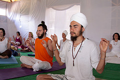 Yogis practicing Kunalini yoga